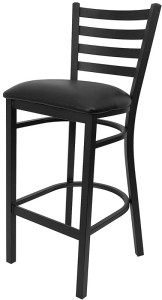 bar stool blk metal