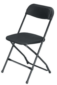 black folding chair 2