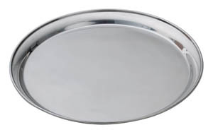 round chrome tray 14