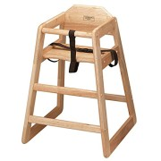 wood high chair no tray