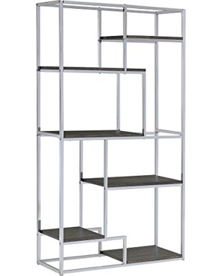chrome bookshelf