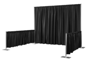 Pipe-Drape-Booth