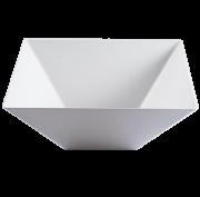 tables of elegance square pyramid bowl clear salad serving medium 6. Black Bedroom Furniture Sets. Home Design Ideas